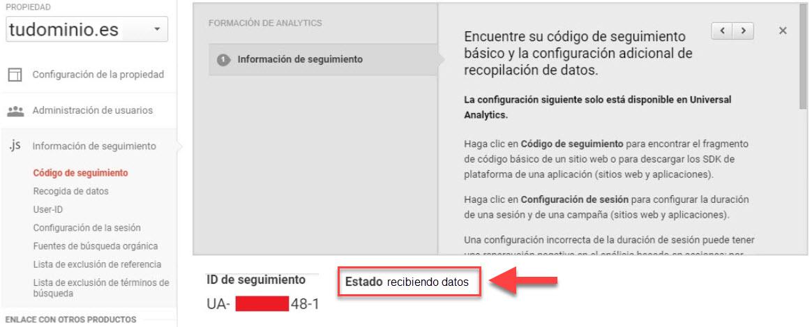 google analytics comprobacion configuracion