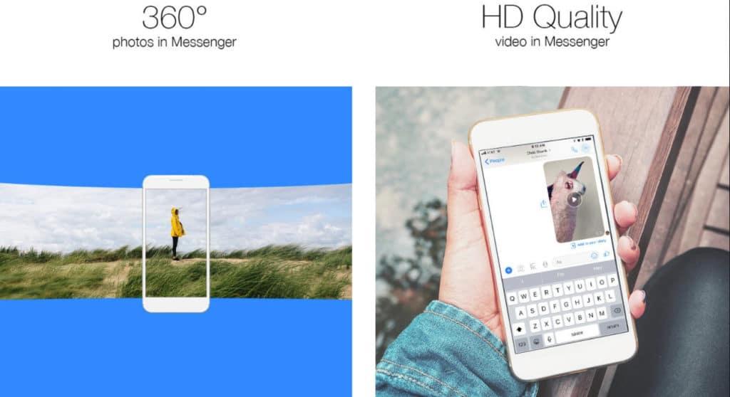 messenger vídeos-fotos