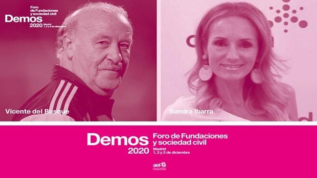 Vicente del Bosque y Sandra Ibarra, juntos por las fundaciones