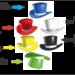 Sombreros de los seis colores